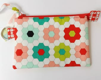 Clutch Style Zipper Pouch in Bonnie & Camille Handmade Fabric