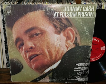 Johnny Cash At Folsom Prison Vintage Vinyl Record