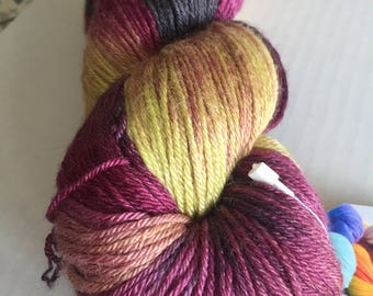 DESTASH: Toil & Trouble Variegated Merino and Silk Sock Yarn