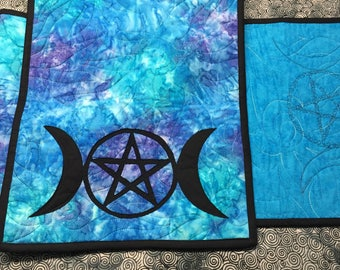 Pentagram Table or Ritual Altar Runner Pagan Wicca Magic Spells Healing
