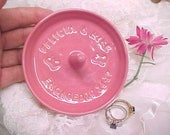 Engagement Ring Holder, Personalized Ring Dish, Custom Name & Date, Unique Wedding Gift for Bride, Jewelry Ring Catcher, MADE to ORDER