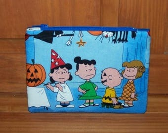 Halloween Charlie Brown Zippered Pouch