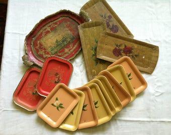 Gypsy Wagon Metal Tole Trays and Bowls, Set of 15, Barneche/Stephanie Barnes Studio
