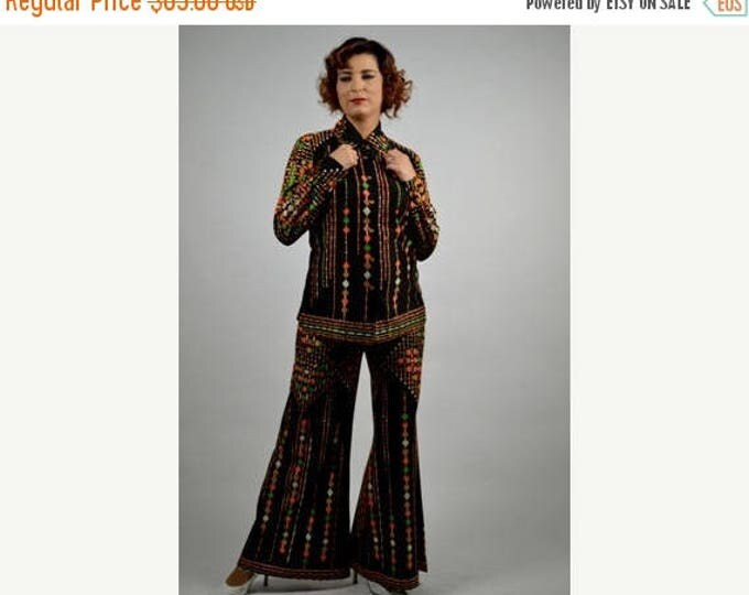 sale Vintage Disco Pant Suits, Top and Bell Bottoms Bell Bottoms Pants, Vintage 70's Disco Bellbottoms, Disco Party Costume, Size Small
