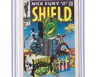 Marvel #1 Nick Fury SHIELD Comic Card from 1984 FTCC