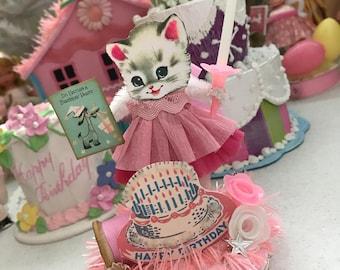 Vintage Inspired   SuGaR SwEeT Birthday Keepsake BIRTHDAY PARTY.. Diorama