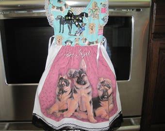 German Shephard Kitchen Towel Dress