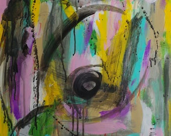 Abstract, Mixed Media, Painting On Sale