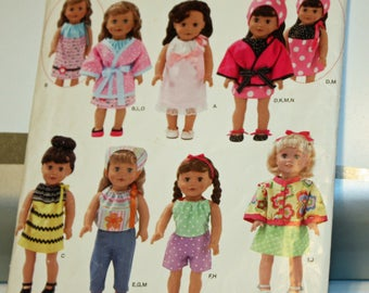 Simplicity 0476, Simplicity  2302, Sewing Pattern, 18 Inch Doll Clothes, Fits American Girl Dolls and other 18 Inch Dolls, UNCUT, FF
