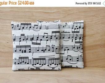 SALE Lavender Sachets, Black & White Musical Notes Drawer Sachets, Lavender Bags, Music Teacher Gift