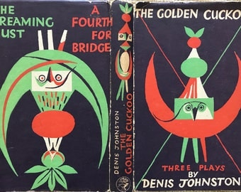 Mid Century Vintage Book The Golden Cuckoo Three Plays by Denis Johnston 1954 First Edition