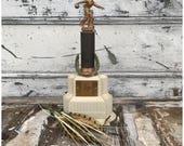 Reserved for a king - Vintage Texas Ten Pin Bowling Trophy - Vintage Trophy - Bowling Trophy - Texas Decor - Vintage Texas - San Antionio Te
