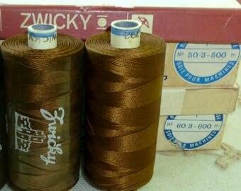 Two Sizes Spools Vintage Swiss Quality spun silk thread