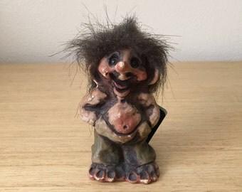 vintage  norwegian fosse-troll figurine