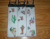 Key fob/ key fob wristlet/ key holder/ keychain/ boots/ cactus/cattleskull/ rustic/western/ shabby chic/ boho