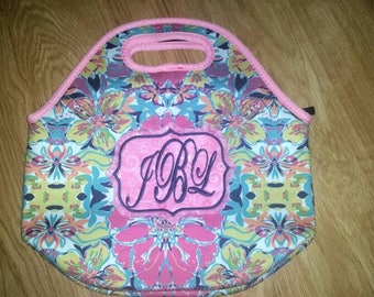 Lunch/ lunch tote/ lunch tote bag/ lunch bag/ lunch box/ lilly/ lilly inspired/ back to school/ teacher gifts/ neoprene lunch bag