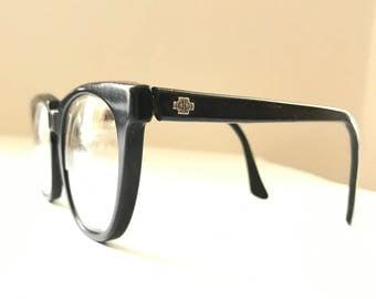 Black BIG Wayfarer Style Eye Glass Frame Titmus Bigger Eyeglasses/ 50-20 Mad Men Sunglasses SALE