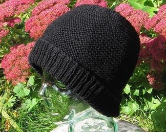 40% OFF SALE Instant Digital File pdf download knitting pattern - garter stitch beanie hat pdf knitting pattern