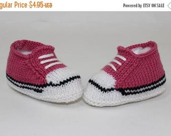 40% OFF SALE Instant Digital File pdf download knitting pattern -Easy Baby Basketball Booties and Sneakers