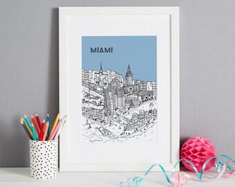 Personalised Miami Print | Engagement Gift | Miami Picture | Wedding Gift | Personalised Gift | Custom Housewarming Gift | Honeymoon Gift