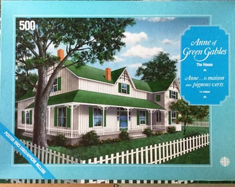 "Anne of Green Gables Jigsaw Puzzle 500 Pieces Complete ""The House"" LM Montgomery Megan Follows Sullivan Productions Excellent Condition"
