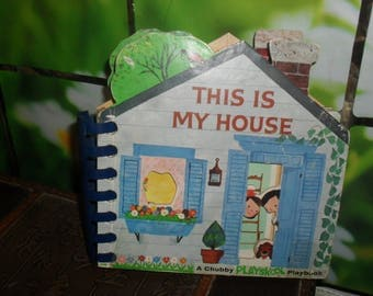 Vintage - A Chubby PlaySkool Play Book - This is My House