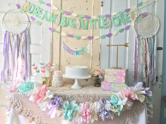 Baby Shower Decorations Package Dream Big Little One Dream Catcher Adorable Dream Catcher Baby Shower Decorations