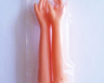 Two Rubber Doll Hands 4 inches long
