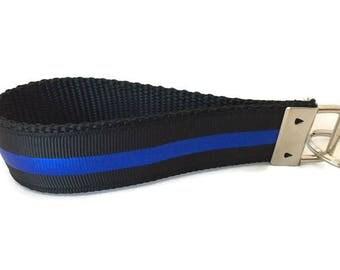 Police Keychain, Key fob, Wristlet