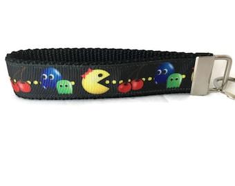 Ms Pacman Keychain, Key fob, Wristlet