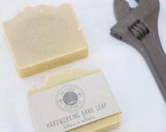 Hardworking Hand Soap 130g with Pumice and Lemon Oil for Fishermen/Gardeners/Mechanics