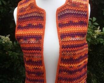 Bright, crochet,festival, waistcoat