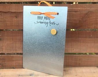 Prayer Board- Magnetic Board - Dry Erase Board - Prayer  - Magnet Picture Frame - Encouragement Gift  - Magnetic Message Board - Memo Board