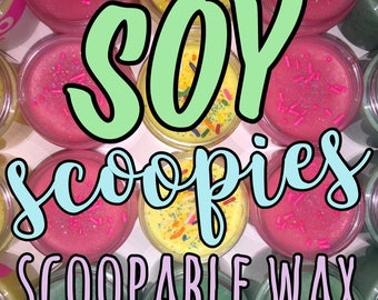 4oz Jars 100% Soy Scoopable Wax (Strongly Scented)