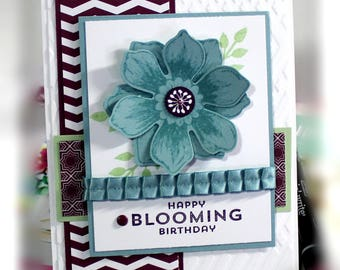Stampin' Up Happy Blooming Birthday Card