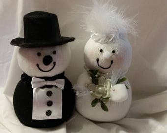 Wedding Snowman Couple
