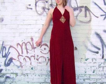 Moving Sale Red velvet evening gown