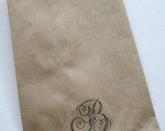 QTY 300 Extra Small Recycled Brown Paper Flat Merchandise Bags - 3 1/4 Inches x 5 1/4 Inches - Priority Mail