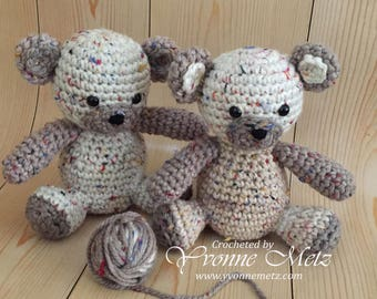 """Crocheted Teddy Bear """"Patch"""" - Baby Shower gift, Child gift, Teddy Bear Lover, Handmade, Made to Order"""