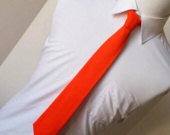 Orange Necktie - Men's, Teen, Youth                            2 weeks before shipping