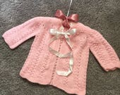 Vintage Pink Baby Sweater