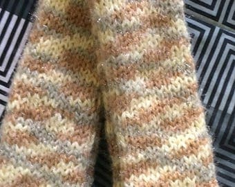 Earth Tones Fuzzy Scarf