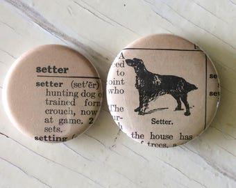 Setter Vintage Dictionary Illustration Magnet Set of 2