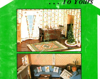 From Our Dollhouse to Yours Miniature Curtains Rugs Christmas Trees Soldiers Alphabet Counted Cross Stitch Embroidery Craft Pattern Leaflet