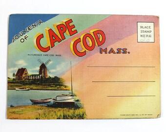 Vintage Cape Cod Massachusetts Souvenir Folder