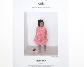 Nani Iro Japanese Sewing Pattern - Kids French Sleeve One Piece - Dress, Top, Tunic