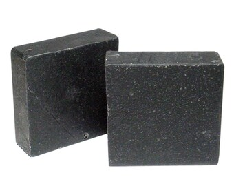 BLACK BLITZ Cold Process Soap with Activated Charcoal, Contains Shea Butter, 4.5oz Bar