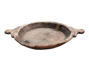 Wooden Carved Dough Bowl