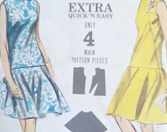 Butterick 3578 Circle Skirt Dress 1960s Size 10