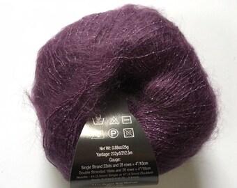 S. Charles Collezione Luna #28 Twilight (Purple) - Sparkly SuperKid Mohair Silk Yarn 25g 232yds